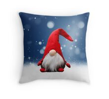 Cute Christmas Santa Snow Stars Throw Pillow