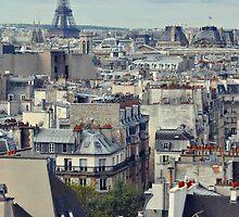 Roof tops of Paris by Karen E Camilleri
