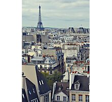 Roof tops of Paris Photographic Print