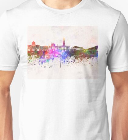 Kingston Upon Hull skyline in watercolor background Unisex T-Shirt