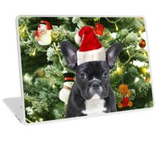 French Bulldog Christmas Tree Ornaments Snowman  Laptop Skin