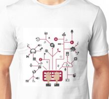 Music in a network Unisex T-Shirt