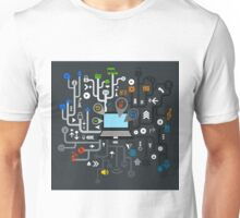 Music the computer Unisex T-Shirt