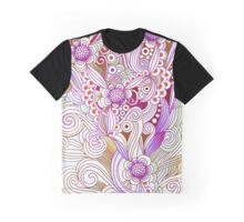 Flower fire, purple Graphic T-Shirt
