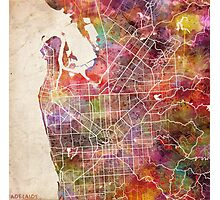 Adelaide map Photographic Print