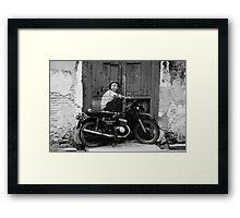Graffiti Rider Framed Print
