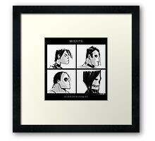 The Misfits in Gorillaz Style Framed Print