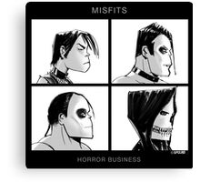 The Misfits in Gorillaz Style Canvas Print