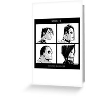 The Misfits in Gorillaz Style Greeting Card