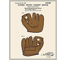 Baseball Glove Patent - Colour Photographic Print