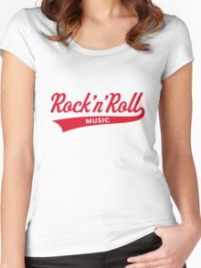 Rock 'n' Roll – Music (Red) Women's Fitted Scoop T-Shirt