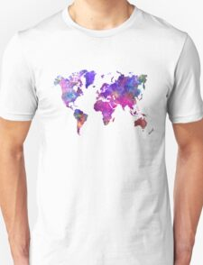World map in watercolor  Unisex T-Shirt