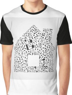 Music the house Graphic T-Shirt
