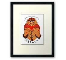 Who Can Ever Learn to Love a Beast Framed Print