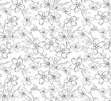 Cherry blossom seamless pattern by Kotkoa