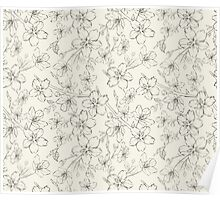 Cherry blossom seamless pattern Poster
