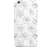 Seamless pattern with flowers narcissus. iPhone Case/Skin