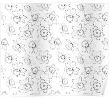 Seamless pattern with flowers narcissus. Poster