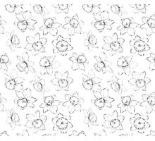 Seamless pattern with flowers narcissus. Photographic Print
