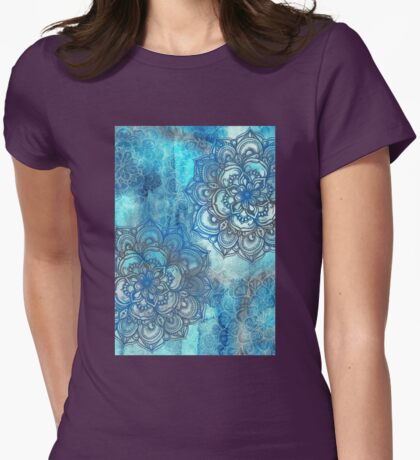 Lost in Blue - a daydream made visible Womens Fitted T-Shirt
