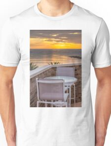 Table for two at dawn Unisex T-Shirt