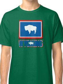 Wyoming Flag  Map USA Flag Classic T-Shirt