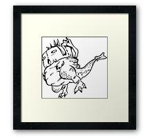 The Toilet Paper Lizard Framed Print