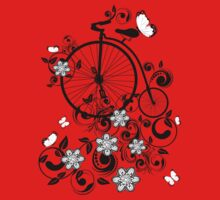 Bicycle and Floral Ornament 3 Baby Tee