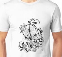 Bicycle and Floral Ornament 3 Unisex T-Shirt