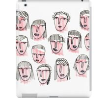 Pink Faces iPad Case/Skin