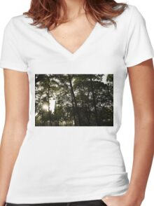 Sunny Tropical Rain - Refreshing Shower in Hawaii Women's Fitted V-Neck T-Shirt