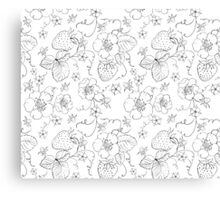 Seamless pattern of bright strawberry Canvas Print