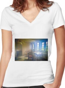 Lost Ghost Women's Fitted V-Neck T-Shirt