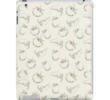 Vegetable pattern on beige background iPad Case/Skin
