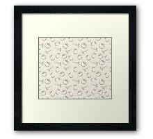 Vegetable pattern on beige background Framed Print