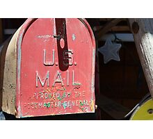 vintage US Mail box Photographic Print