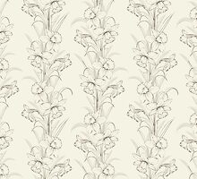 Spring isolated flowers fabric seamless pattern by Kotkoa
