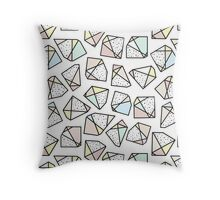 Polygonal stones and gemstones Throw Pillow