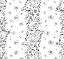 Sakura seamless pattern by Kotkoa