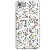 Polygonal stones and gemstones iPhone Case/Skin