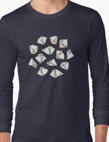 Polygonal stones and gemstones Long Sleeve T-Shirt