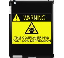 WARNING - POST-CON DEPRESSION iPad Case/Skin