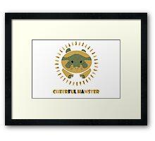 cheerful hamster Framed Print
