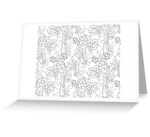 Seamless grape pattern black and white Greeting Card