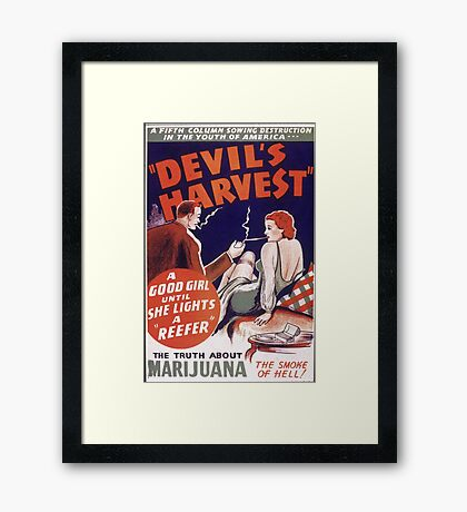 Marijuana The Devil's Harvest Framed Print