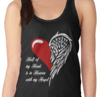 Half of my heart is in heaven with my angel Women's Tank Top