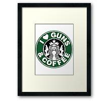 Guns & Coffee Framed Print