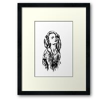 Brush Pose Framed Print