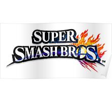 Super Smash Bros. 4 Logo Poster