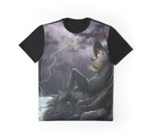 Snufkin chilling with Hattifatteners Graphic T-Shirt